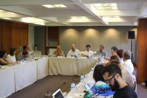 Organizers Anderson, Ventura Santos, and Roque